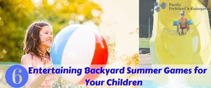 6 Entertaining Backyard Summer Games for Your Children