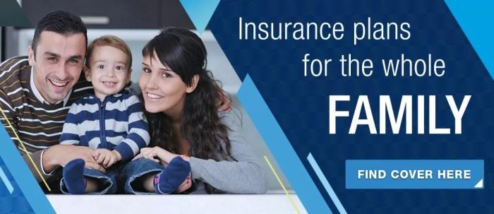 Family health insurance banner