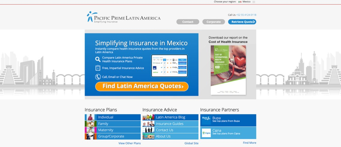 Pacific Prime Latin America launches its brand new website