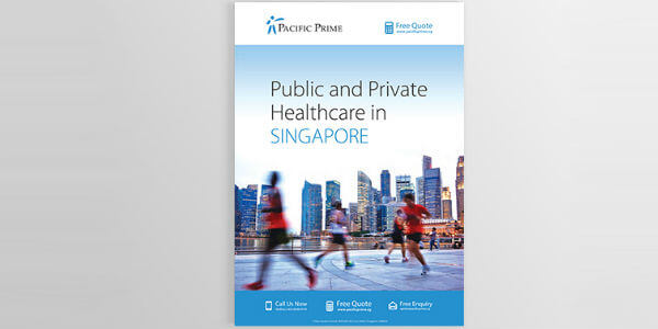 Front cover of the Public vs Private healthcare guide in Signapore
