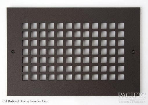 Cast Aluminum Vent Covers Square Pattern bronze