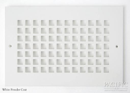 Cast Aluminum Vent Covers Square Pattern white