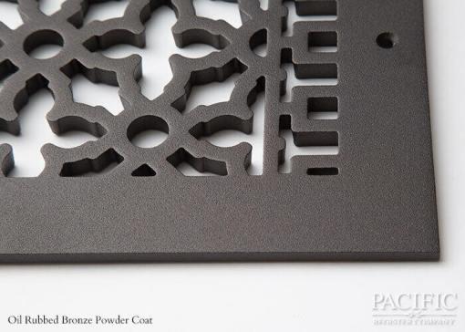 Cast Aluminum Vent Covers Victorian Pattern Bronze CU