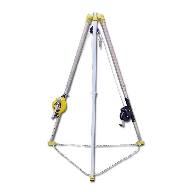 FRENCH CREEK 7' TRIPOD AND 50' 3-WAY RESCUE UNIT & WINCH