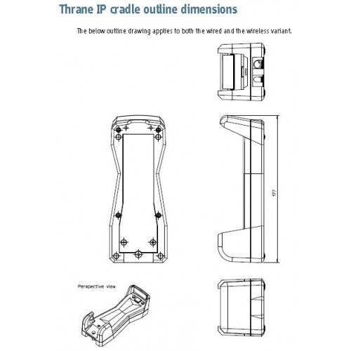 TT-01-403674B Thrane IP Cradle only, Wireless