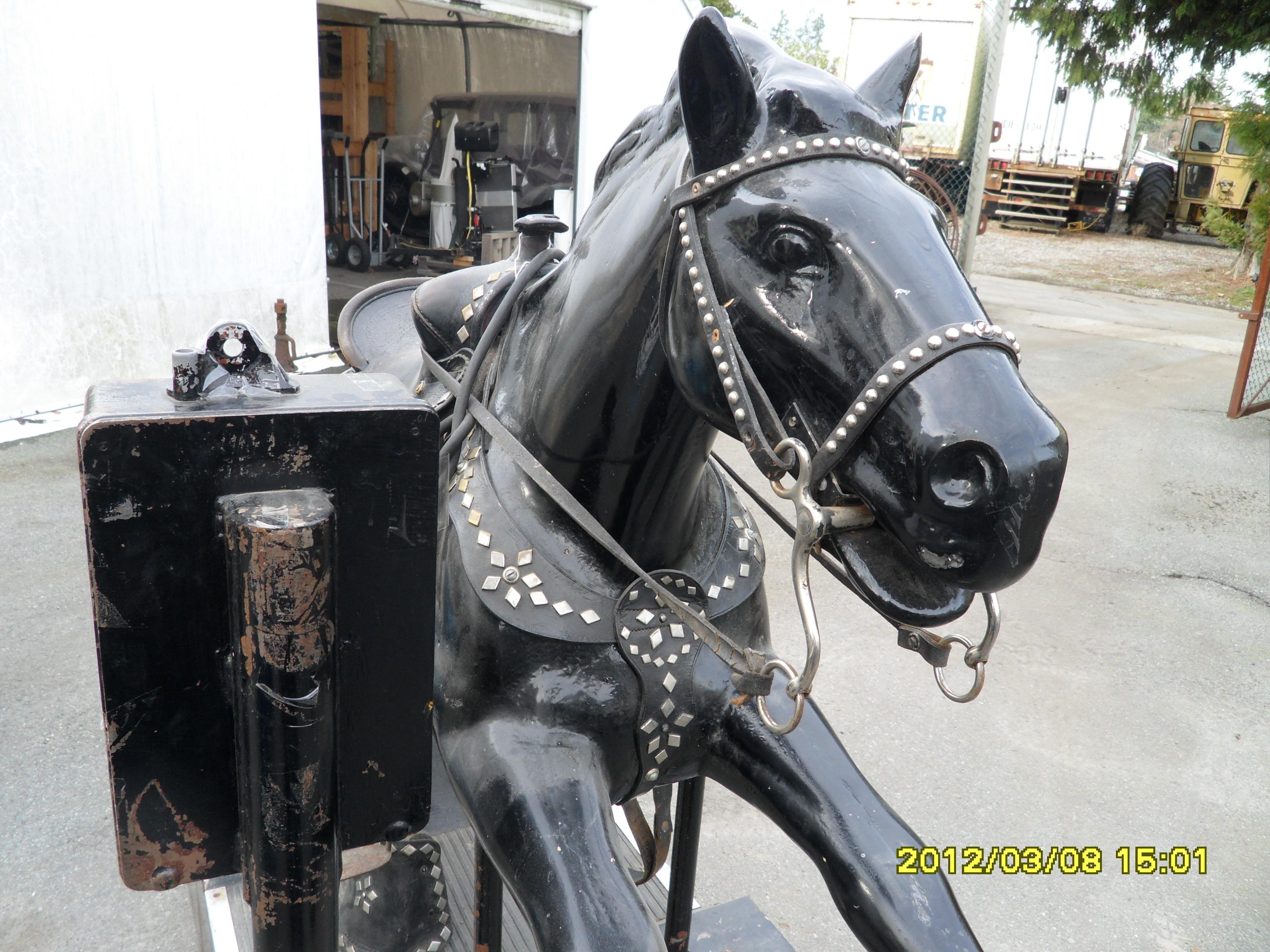 278  Kiddy Ride Champion Horse  UNIQUETIQUES