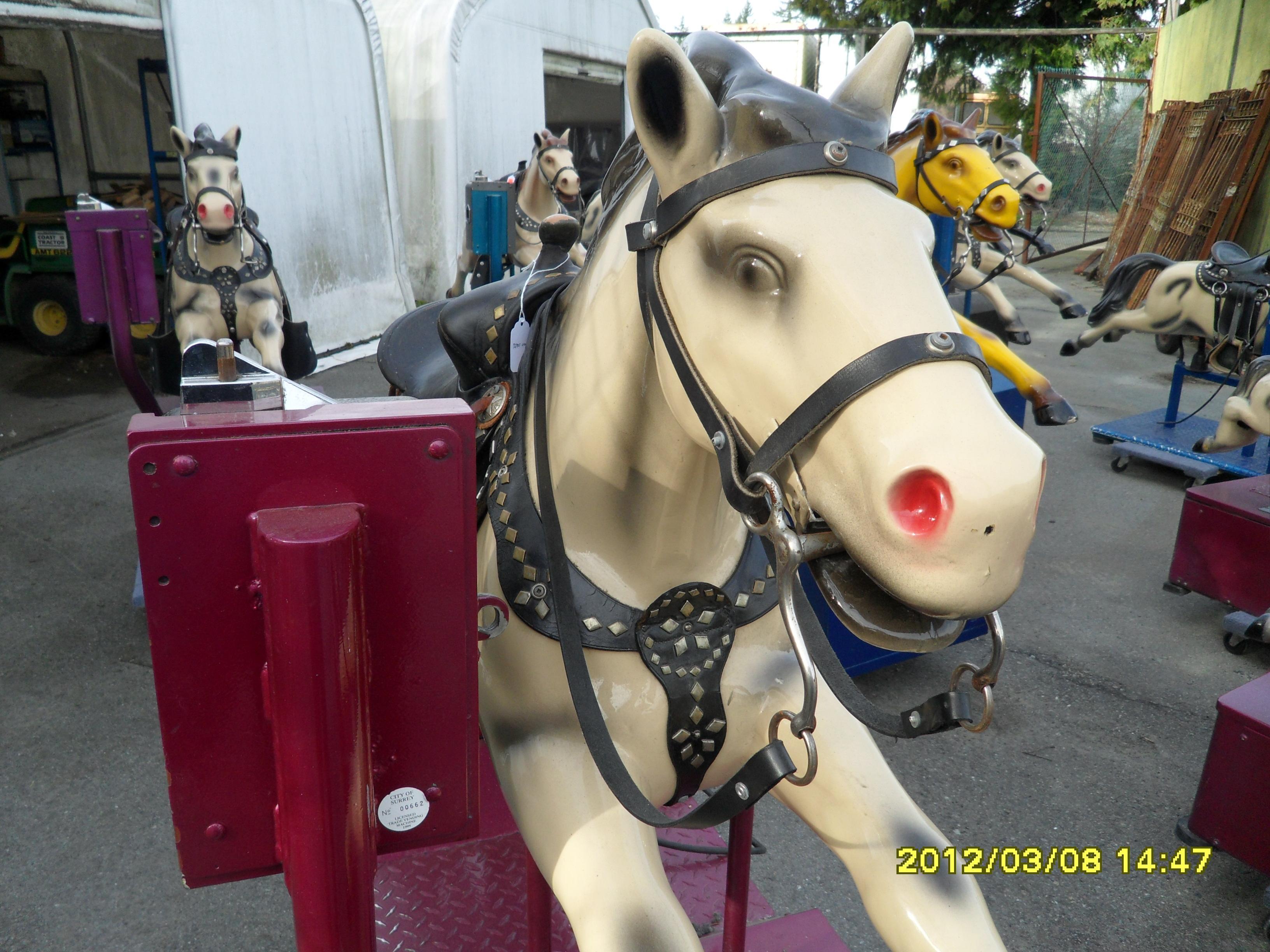 279  Kiddy Ride Champion Horse  UNIQUETIQUES