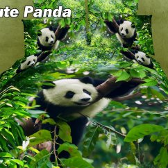 Kitchen Window Curtains Best Pull Out Faucet Cute Panda By Dolce Mela, 4-pc Twin Size Duvet Cover Set ...