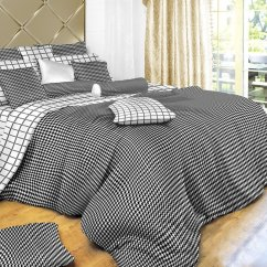 Kitchen Curtain Sets And Bath Cabinets Black & White Check, Check Bedding, 4 Piece ...