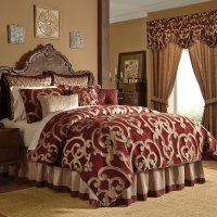 Red Comforter Set In King Or Queen - Corsica