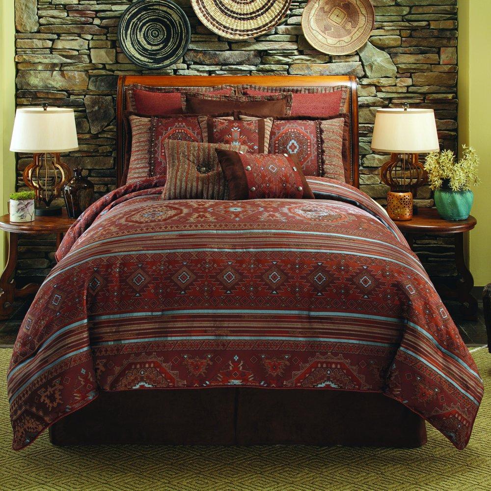 Rust Comforter Set In Full Pueblo