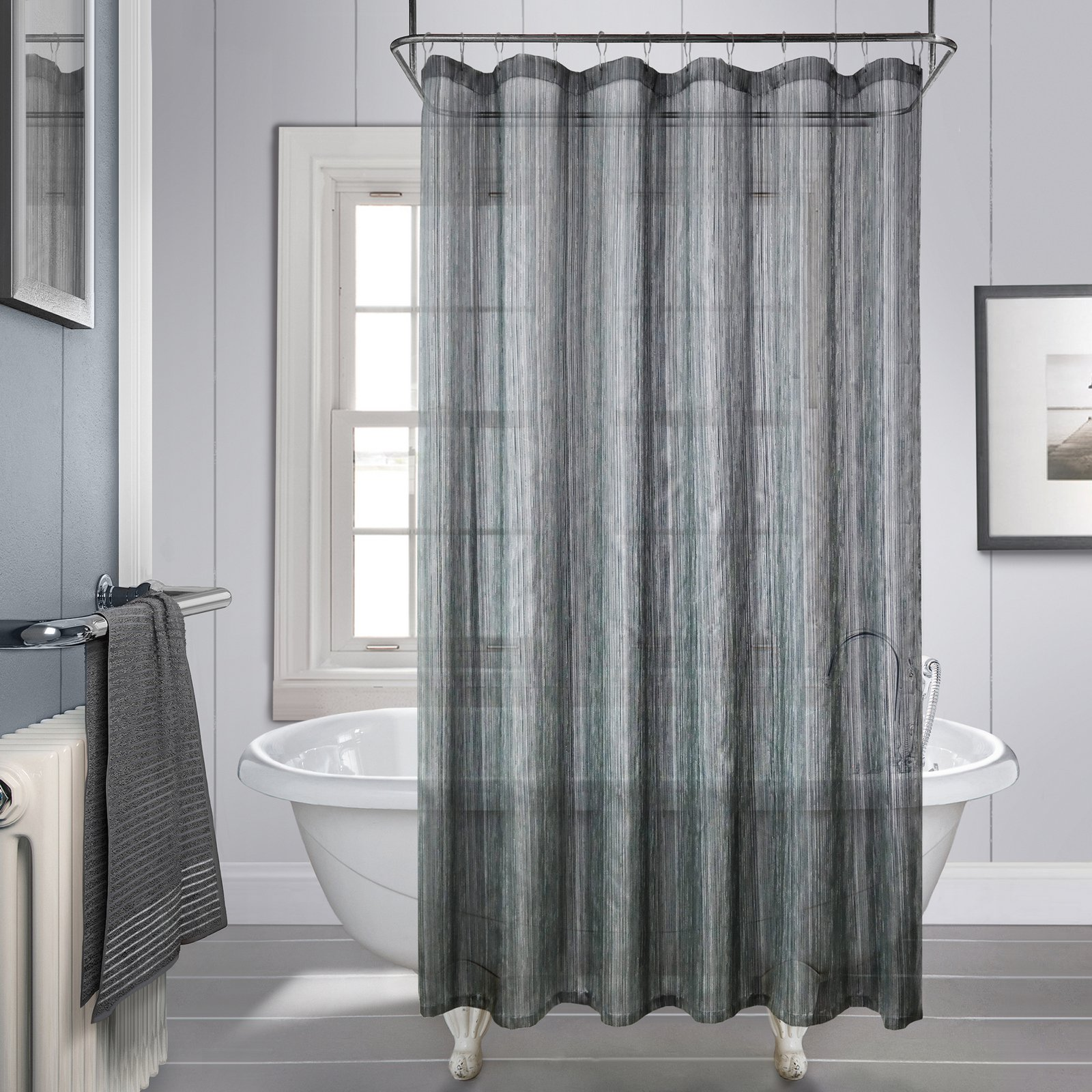 royce charcoal shower curtain