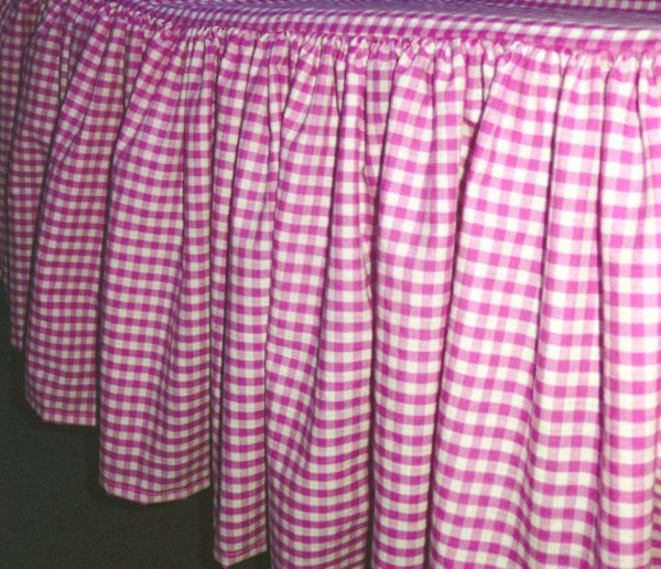 orange kitchen rugs counter covers hot pink gingham check bedskirt (in all sizes from twin to ...