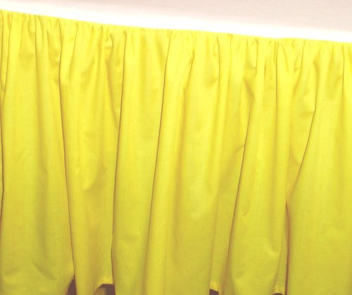 Solid Lemon Yellow Colored Bedskirt in all sizes from