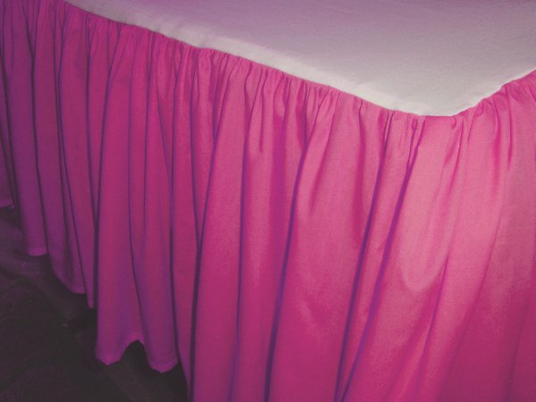 Hot Pink Bed Skirt Queen Dust Ruffle  All Sizes  Precise Fit