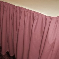 Rugs For Kitchen Building Cabinet Doors Solid Rose Colored Bedskirt (in All Sizes From Twin To Cal ...