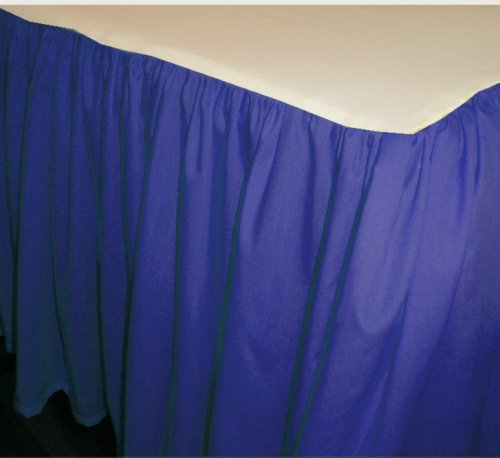 Solid Royal Blue Colored Bedskirt in all sizes from twin