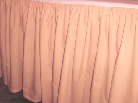 Solid Peach Colored Bedskirt in all sizes from twin to
