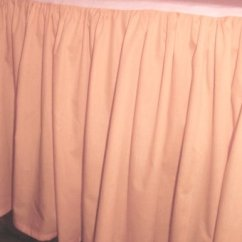 Cafe Kitchen Curtains Chalkboard Art Solid Peach Colored Bedskirt (in All Sizes From Twin To ...