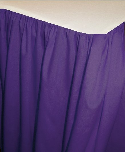 Solid Purple Colored Bedskirt in all sizes from twin to