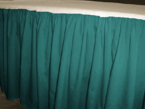 Solid Teal Colored Bedskirt in all sizes from twin to cal