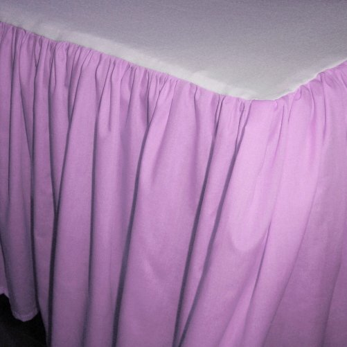 Solid Violet Purple Colored Bedskirt in all sizes from