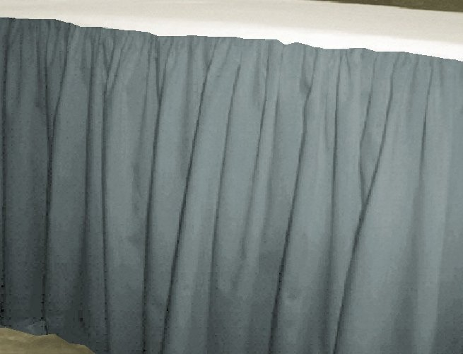 Solid Wedgewood Blue Colored Bedskirt in all sizes from twin to calking also in crib size and