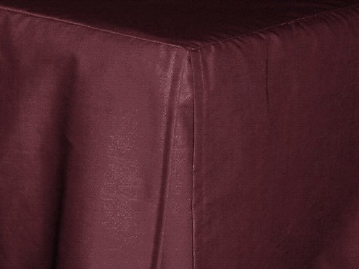 Dark Wine Burgundy Tailored Bedskirt for cribs and