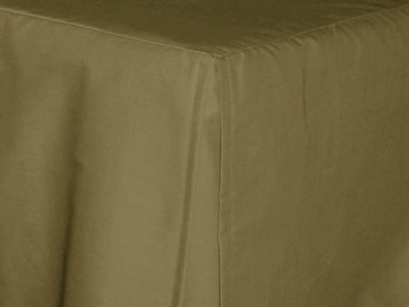 Olive Green Tailored Bedskirt for cribs and daybeds and