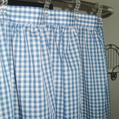 Kitchen Curtains Blue Propane Stoves Gingham Check Shower Curtain