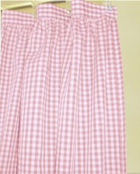 Light Pink Gingham Check Shower Curtain