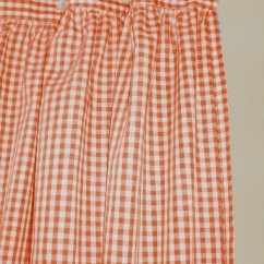 Orange Kitchen Rugs Pottery Barn Set Used Gingham Check Shower Curtain