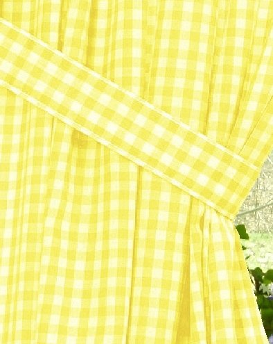 long kitchen rugs remodeling a on budget yellow gingham check window curtain (available in ...