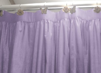 Solid Light Purple Lilac Colored Shower Curtain