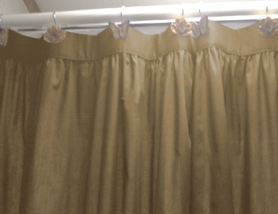 Solid TaupeKhaki Colored Shower Curtain