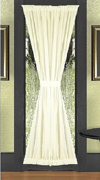 Single Panel French Door Curtain available in all solid