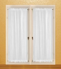 SOLID BLACK COLORED FRENCH DOOR CURTAIN AT BEST PRICE IN US