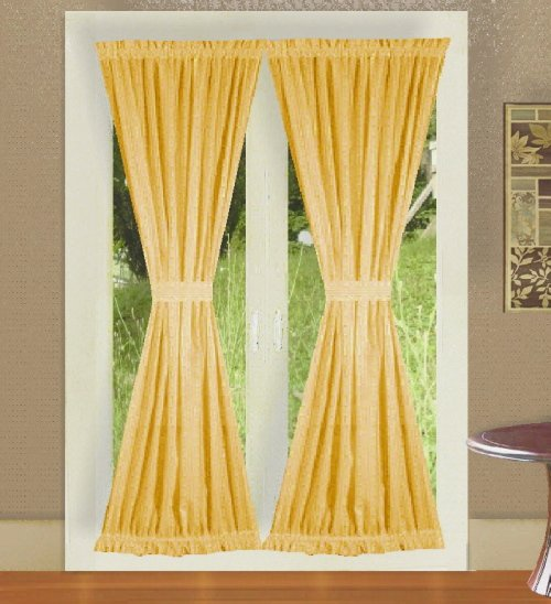 curtain for kitchen window rubber mat best deal gold colored french door curtains in cheap price