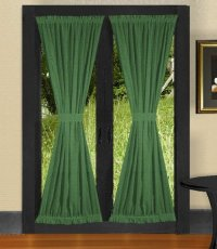Solid Hunter Green Colored Shower Curtain