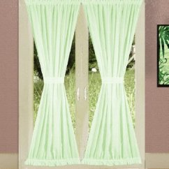 Swag Curtains For Kitchen Sinks Houzz Get Solid Light Green Colored French Door With ...