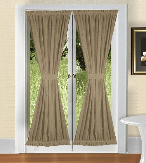 Solid TaupeKhaki Colored French Door Curtain available