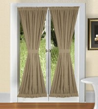 Solid Taupe-Khaki Colored French Door Curtain (available ...