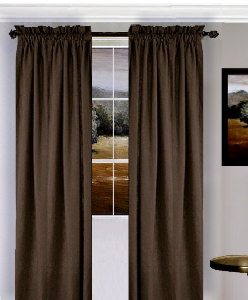Solid Brown Colored Window Long Curtain available in many