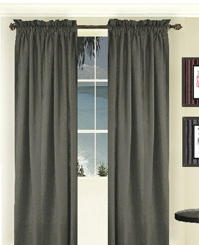 Solid Charcoal Gray Colored Long Window Curtain available