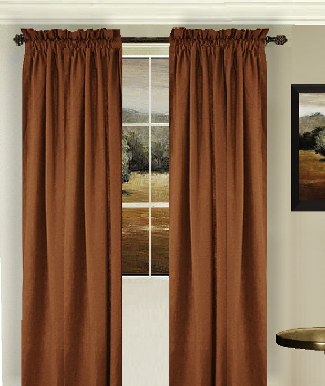 Solid Copper Brown Colored Shower Curtain