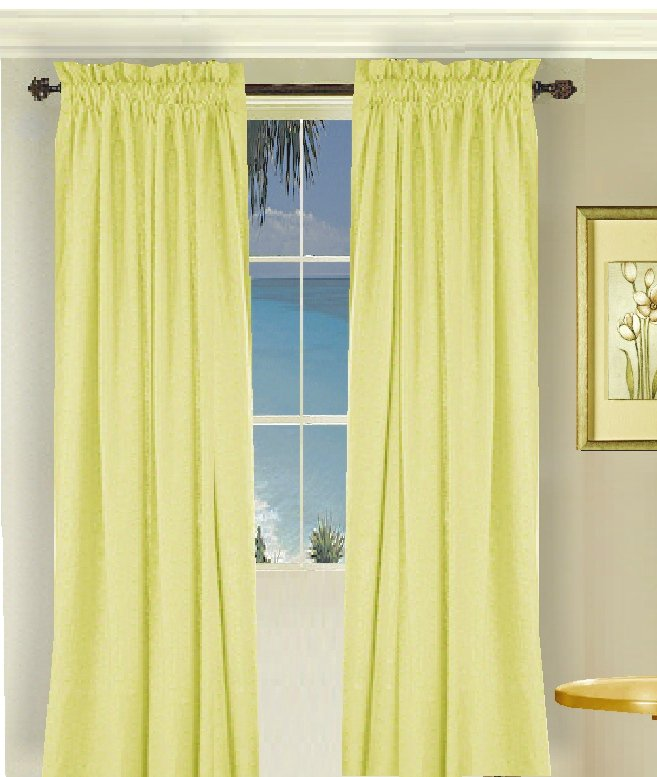 Solid Light Yellow Colored Shower Curtain