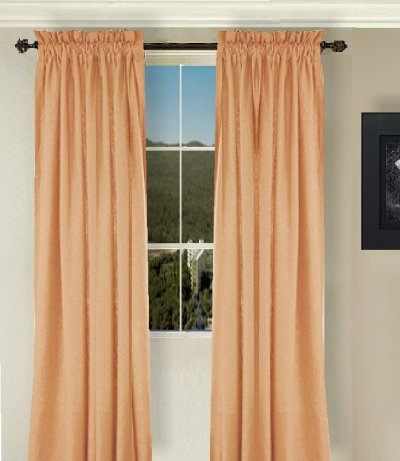 Solid PeachApricot Colored Window Long Curtain available