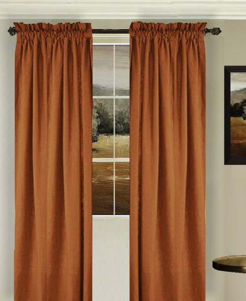 rust colored curtain panels