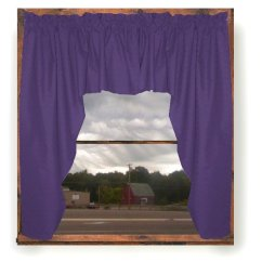 Swag Curtains For Kitchen Faucet Pull Out Sprayer Solid Purple Colored Window Valance (optional Center ...