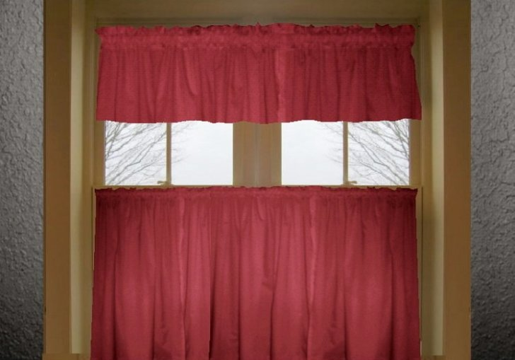 Red Kitchen Curtains And Valances